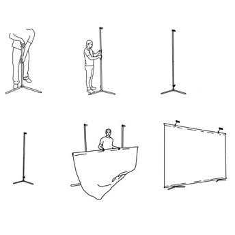 Можно использовать панорамные экспозиции, соединяя стенды между собой
