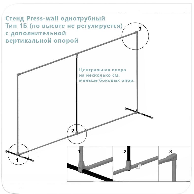 Однотрубный джокерный пресс-волл с доп.опорой тип 1Б (не регулируется по высоте)