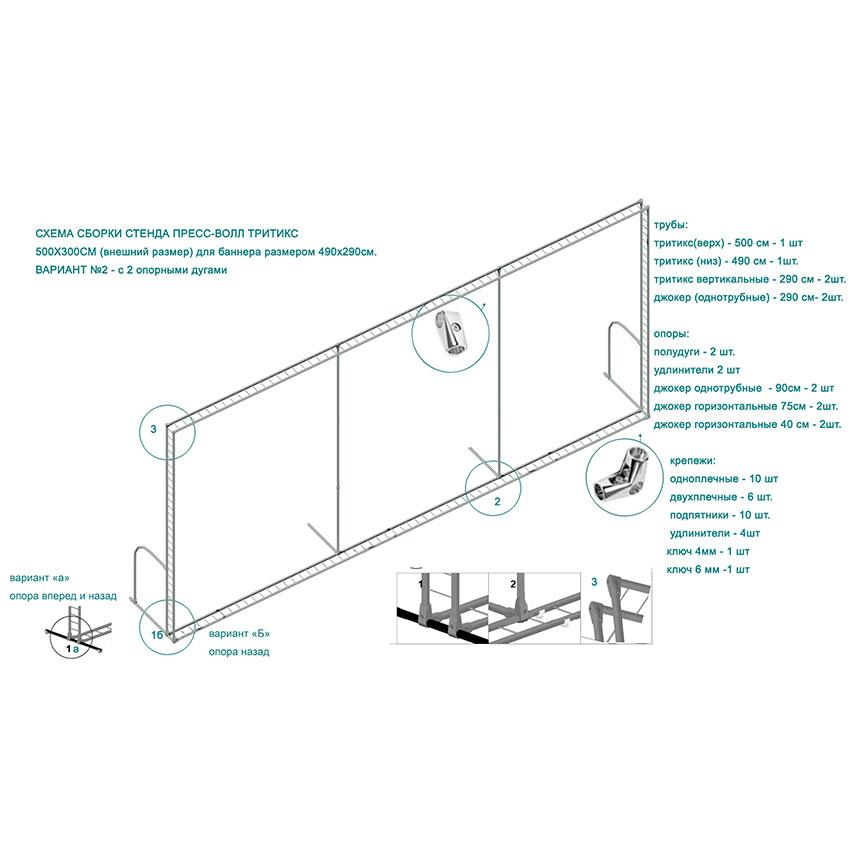 Инструкция и схема сборки стендов пресс-волл Тритикс тип 2