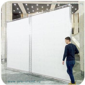Стенд press-wall двухтрубный большого размера 4,5х3 метра (задняя сторона стенда)