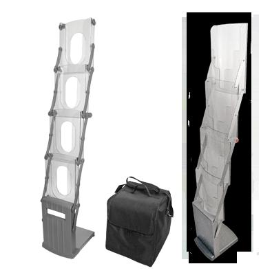 Буклетница K-System K6 / Cascade и Cascade Wood, с прозрачными карманами А4