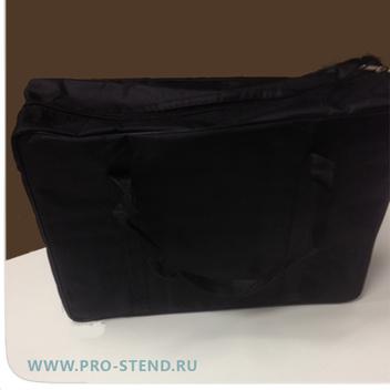 Буклетница формата А3 в черной стильной сумке.