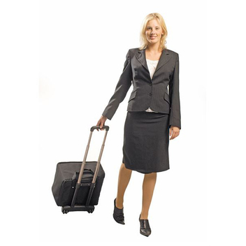 возможна комплектация буклетницы сумкой на колесиках с телескопической выдвижной ручкой