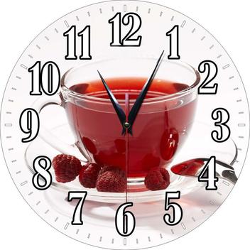 Стеклянные круглые часы с полноцветной печатью по макету заказчика.