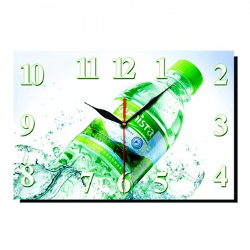 часы стеклянные прямоугольные  с полноцветной печатью по стеклу
