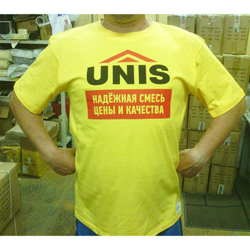 нанесение логотипов на футболки - шелкография - по макету заказчика
