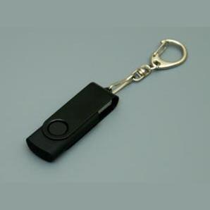 Флешка для логотипа черная с карабином для ключей всегда рядом