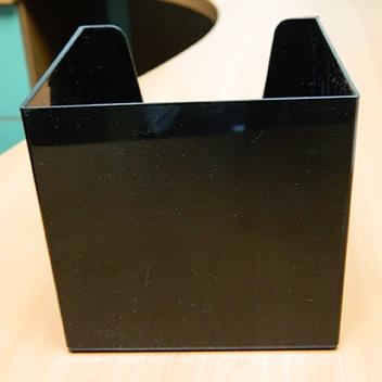 Кубарик черный непрозрачный, 9*9*9 см.