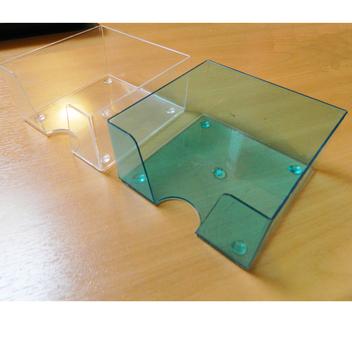Кубарик прозрачный бесцветный и тонированный, 9*9*4,5 см.