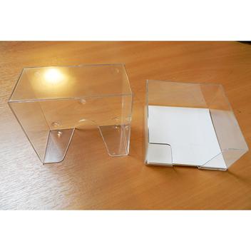 Кубарик низкий 9х9х4,5см прозрачный бесцветный, без бумажного блока