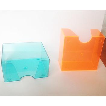 Кубарик прозрачный цветной тонированный, 9*9 см.