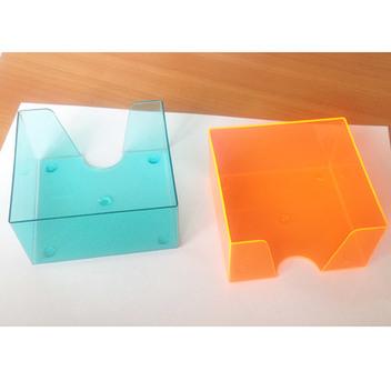 Кубарик прозрачный тонированный, 9*9 см. без бумажного блока