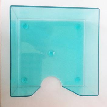 Кубарик прозрачный цветной тонированный, 9*9 см. вид сверху