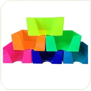 Кубарики цветные - желтый лимонный, оранжевый, зеленый салатовый, розовый, синий, голубой 9х9х4,5 см.