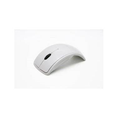 Белая беспроводная компьютерная мышь, подходит для нанесения логотипа
