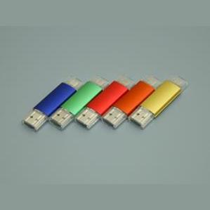 Флешки с дополнительным разъемом под нанесение логотипа вашей фирмы