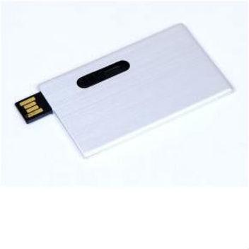 Флеш-накопитель металлический в виде карточки под нанесение.