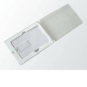 Упаковка №1 - пластиковый футляр с прозрачной крышкой, для флешки-карты