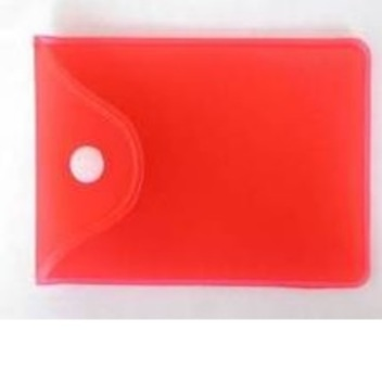Упаковка №6 пластиковый/силиконовый прозрачный кармашек с кнопкой, разные цвета