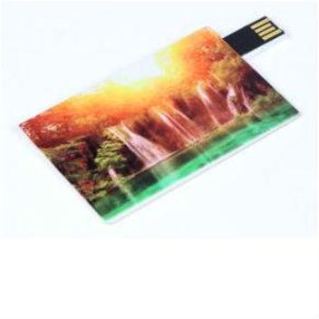 Флешка-кредитка с полноцветной печатью с одной или с двух сторон