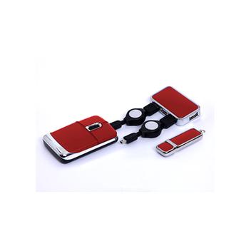 USB-хаб, флешка и мышь в наборе для подарка коллегам со склада в Москве