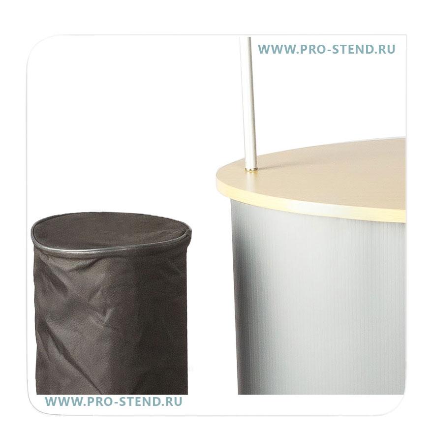 Круглый чехол предназначен для полотна, фриза и вертикальных подставок.