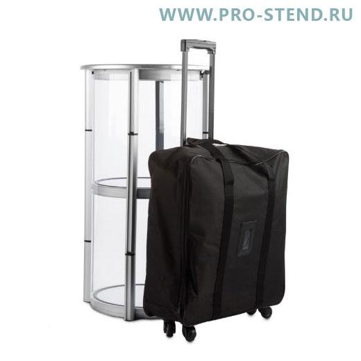 Круглая промостойка 86х40 см с сумкой-тележкой.