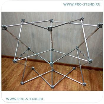 Инструкция по сборке стола-ресепшен:  Разложите решетку