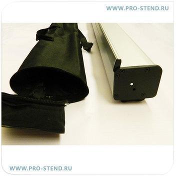 Торцы стенда черного цвета. В комплекте - качественная сумка.