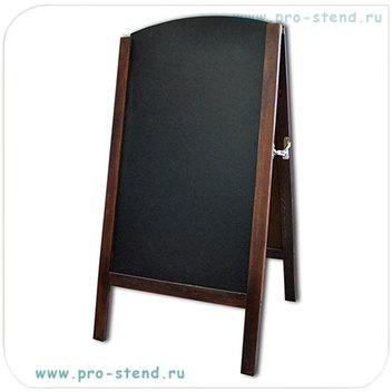 Очень стильный, красивый и при этом большой меловой штендер арочной формы (С-2в, М-2в)