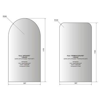размеры рекламного поля для металлических штендеров