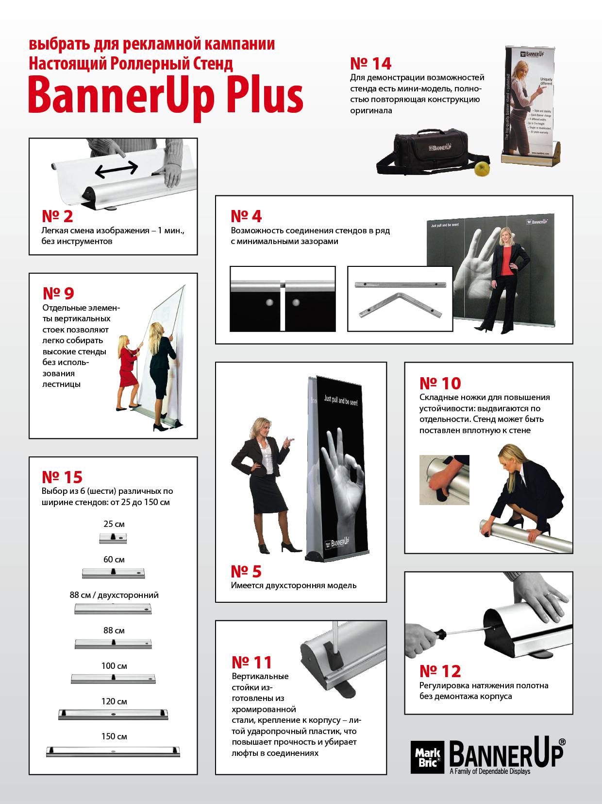 Схема сборки стендов BannerUp Plus