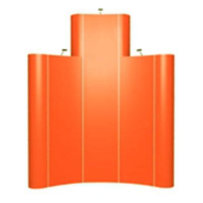 Полукруглый стенд Pop-up 3х3секции с фризом (3х4)