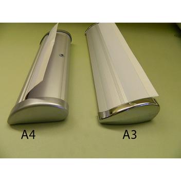 Стенд формата А4 и стенд А3 (вид сбоку).