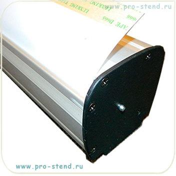 Торцы черного цвета отличительная особенность рекламного стенда Roll-up Premium.