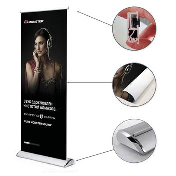 Каплевидный рекламный баннерный стенд Rollup Lux K8