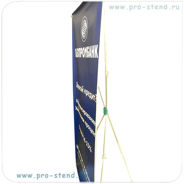 икс-стенд с телескопическими ножками для регулировки размера стенда