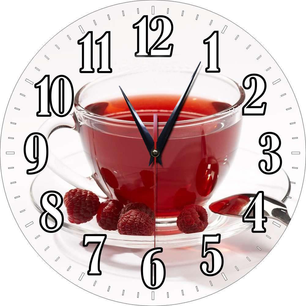 Main photo of Часы круглые стеклянные с полноцветной печатью по стеклу