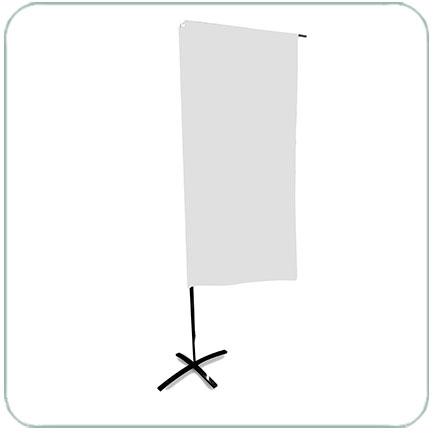 Main photo of Мобильный флагшток Парус прямоугольный