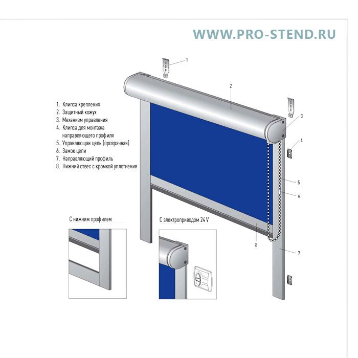 Main photo of Рулонная штора - механическая или с моторчиком