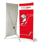 X-Banner stand Z 60-85 x 180-210 см